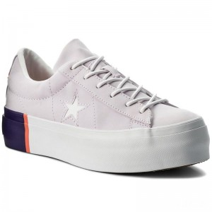 Converse Sneakers One Star Platform Ox 559902C Barely Grape/Rush Coral/White