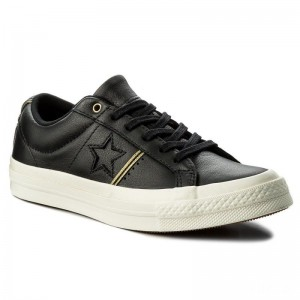 Converse Turnschuhe One Star Ox 159701C Black/Gold/Egret
