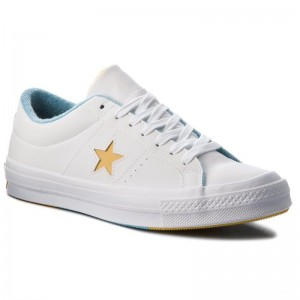 Converse Turnschuhe One Star Ox 160593C White/Mineral Yelow/Shoreline