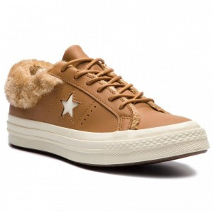Converse Turnschuhe One Star Ox 162603C Burnt Caramel/Burnt Caramel