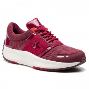 Converse Sneakers Run Star Ox 163312C Dark Burgundy/Rhubarb