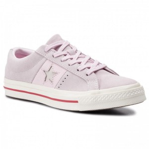 Converse Turnschuhe One Star Ox 163194C Pink Foam/Enamel Red/Egret
