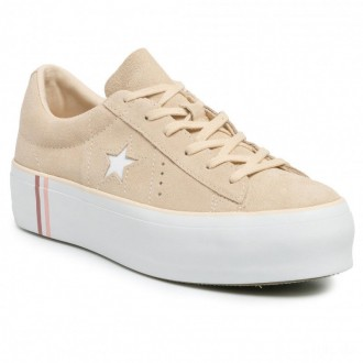 Converse Sneakers One Star Platform Ox 565377C Light Bisque/White/White