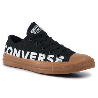 Converse Sportschuhe Ctas Ox 166233C Black/White/Gum Honey