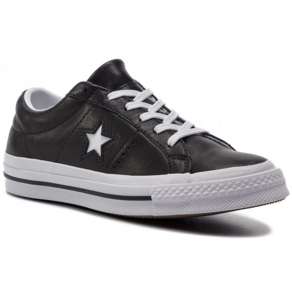 Converse Turnschuhe One Star Ox 163385C Black/White/White