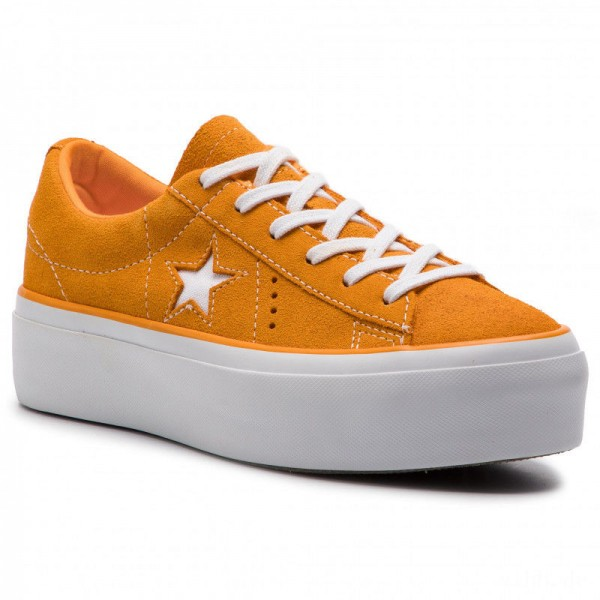 Converse Turnschuhe One Star Platform Ox 563487C Field Orange/White/White