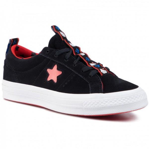 Converse Turnschuhe One Star Ox 163904C Black/Fiery Red/White