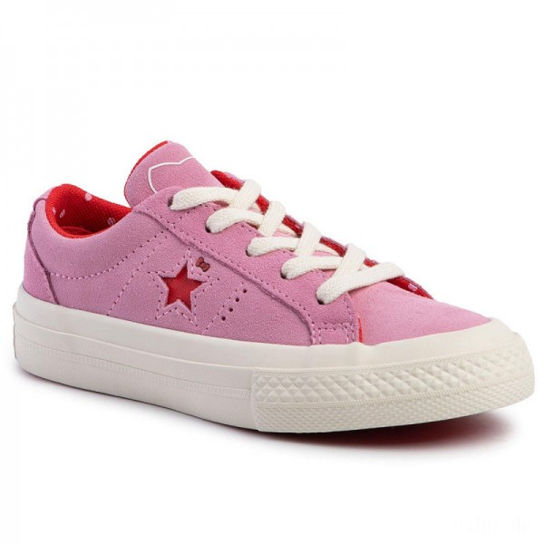 Converse Turnschuhe One Star Ox 362941C Prism Pink/Fiery Red/Egret