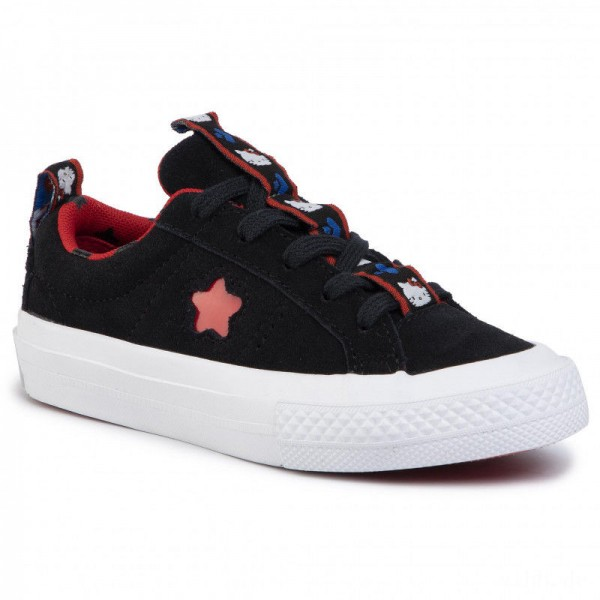 Converse Turnschuhe One Star Ox 363906C Black/Fiery Red/White