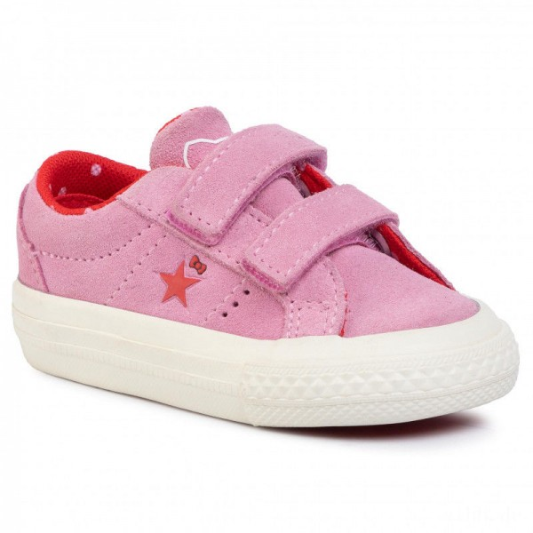 Converse Turnschuhe One Star 2V Ox 762943C Prism Pink/Fiery Red/Egret